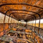 Omar Sheikh / Torched School Bus / 2nd / Digital Intermediate Decayed and Abandoned
