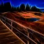 Ron Manning - At West Thumb Volcanic Basin - HM - Digital Advanced Artistic Contemporary
