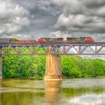 David Simmonds - Train Crossing Bridge - HM - Digital Advanced Pictorial